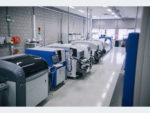 Fully automatic SMD production line with up to six line changes enable two-shift operation.